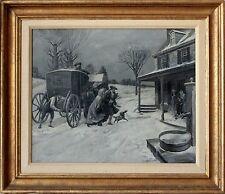 American 19th Century Revolutionary Period Oil Painting Scene by Frank McKernan