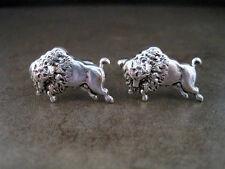 Handmade Oxidized Silver Brass Buffalo Cuff Links