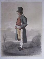 1872 PRINT SWEDISH PEASANT COSTUME ~ DISTRICT OF LUGGUDE Skanska Folkdragter