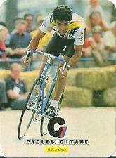 Carte Cycle Gitane Hubert Arbes cyclisme Tour de France sport trading card