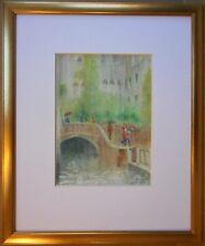 Venice in the rain, original watercolour by Ann Jasper, New Zealand artist 2003