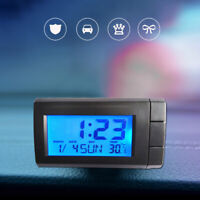 Mini Portable Digital Clock Date Time Temperature For Car Dashboard Accessories