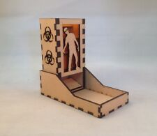 Zombie Dice Tower Amber Acrylic Window Laser Cut MDF v1