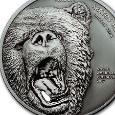 2017 Cook Islands 2 oz North American Predators Grizzly Bear - SKU #104293