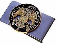 Masonic Large Scottish Rite 32 32nd Degree MONEY CLIP
