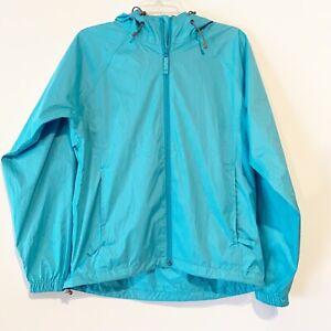 Alpine Design Womens Spring Track Jacket Hoodie Parka Teal Aqua  Mwdium