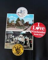 Massachusetts Plymouth Plantation Mt. Wachusett Toy Town Pins and Postcards Lot