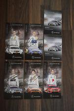 DTM Autogrammkarten Set signiert Mercedes 2013