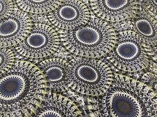 Grey Mandala Print 100% Viscose Summer Printed Dress Fabric.