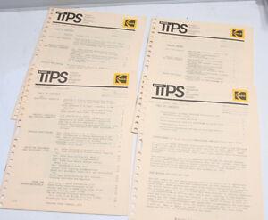 Kodak TIPS Tech Info Photo Systems Vol 6 No 1 2 3 4 Sp 1975 English - USED B113A
