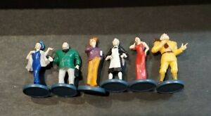 SET OF 6 2002 2005 CLUE Board Game SUSPECTS Pawns Tokens Movers Figures EUC