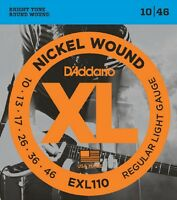 15 Pack D'Addario EXL110-3D Electric Guitar Strings 10-46 Light