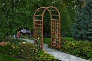 New England Arbors Decorative Vinyl Sierra Garden Patio Arch Trellis w/WARRANTY