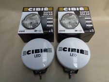 "NEW GENUINE CIBIE SUPER OSCAR LED 9"" SPOTLIGHTS 045309 PAIR BLACK / CHROME"