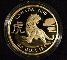 CANADA $150  2010 Gold Coin - YEAR OF THE TIGER - Mintage 2500