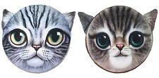 3D Purple Brown Cat Face Memory Foam Cushion Pillow Seat Home Decor US Seller