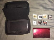 Nintendo 3DS Super Mario 3D land Flame Red. Includes 7 Games! Great Condition!