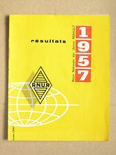 Catalogue Résultat Financier RENAULT RNUR 1957 auto camion  brochure  Truck LKW