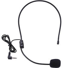 Economy Black Double Ear-Hook Microphone for All Wireless Body-Pack Transmitters