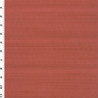 Coral Red Caraway Herringbone Home Decorating Fabric, Fabric By The Yard