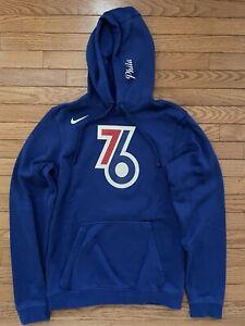 Nike PHILADELPHIA 76ERS SIXERS City Earned Hoodie Hoody Jacket Adult Small New