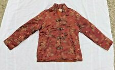 Vintage Made In Hong Kong Cathay Rayon Brocade Insulated Lined Asian Jacket B 38