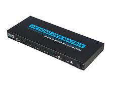 MATRICE HDMI 4x2 INTERRUTTORE IR telecomando 4 ingressi 2 uscite 4Kx2K UHD 1080p 3D