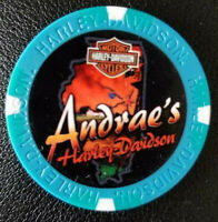 Harley Poker Chip Full Color Wide Print (Blue/Teal) ANDRAE'S HD ~ Illinois