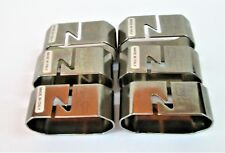 Zepter Stainless Steel 18/10 Napkin Rings/holders Italy set of 6