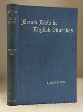 BENCH-ENDS IN ENGLISH CHURCHES- J. Charles Cox 1916 1st art, Christian, pews, UK