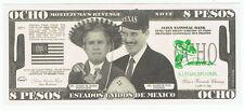 President George W Bush Novelty Bill Fun Money Note Political Vicente Fox Mexico