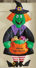 "Halloween Witch Pumpkin Trick-or-Treat Candy Holder Wall Door Hanging 36""L"