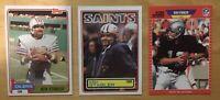 Ken Stabler (3) Football Cards