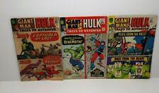 Tales To Astonish #61,67,68 *Lot of 3* Silver Age Hulk Marvel Comics! 1964