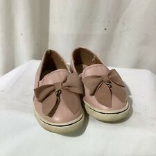 Girls River Island Pink Slip on Trainer Shoes Size UK4 Infant Toddler Exc Con