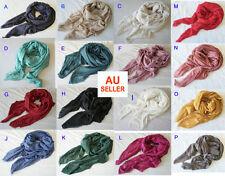 Large Soft Cotton Linen Ladies Blanket Scarves Wrap Shawl Fringed Vintage Color