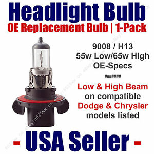 Headlight Bulb High/Low OE Replacement Fits Listed Dodge & Chrysler Models  9008