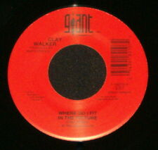 "CLAY WALKER ""WHERE DO I FIT IN THE PICTURE/Money Can't"" GIANT 18210 (1993) 45rpm"