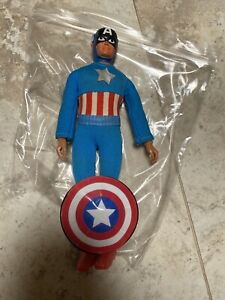"Vintage Mego Captain America w/Shield 8"" Action Figure Loose"