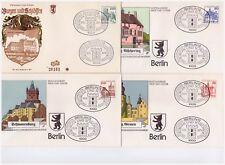 Berlin, Michel Nr. 587 - 590 Burgen und Schlösser kompletter Satz auf FDC