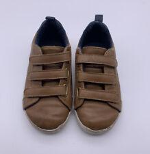 Old Navy Toddler Boy Shoes Sz 9 Footwear Hook & Loop Casual Brown