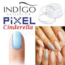 Indigo Pixel Effect Cinderella Kopciuszek Nail Powder Glitter Mermaid Dust