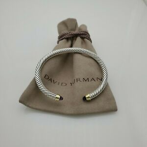 David Yurman Cable Classic Collection Bracelet & Amethyst and 14K Yellow size M