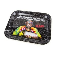 """RAW OOPS Large Metal Rolling Tray ( 14"""" x 11"""")- 1 Tray-"""