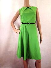 NWT AB STUDIO Medium Green Sleeveless Fit & Flare Dress, Size 16