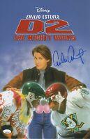 Emilio Estevez Autograph 11x17 Photo The Mighty Ducks Signed JSA COA 2