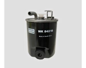 MANN Fuel Filter WK842/18 for Mercedes-Benz Sprinter 2002-06 CDi 208 311-13 413