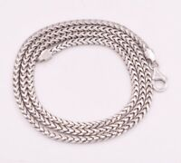 3mm Anti-Tarnish Solid Franco Chain Necklace Real 925 Sterling Silver ITALY