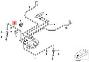 Genuine BMW E34 E36 Z3 Cabrio Coupe Front ABS Brake Pipe OEM 34326755664
