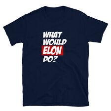 What would Elon do? Tesla gift idea. Model 3 Y X S. Short-Sleeve Unisex T-Shirt